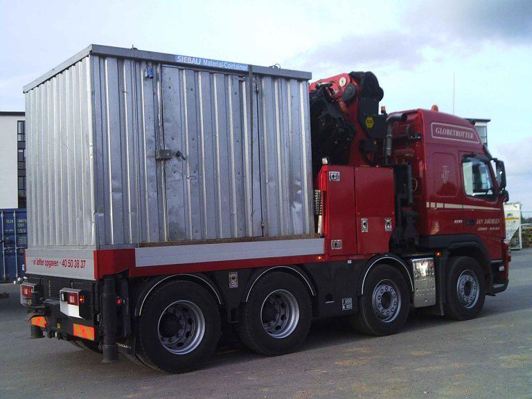 Container på ladet