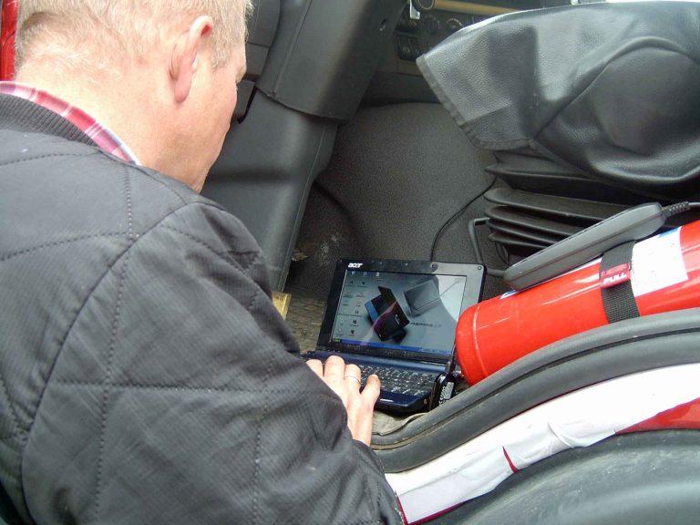 Online i kranbilen
